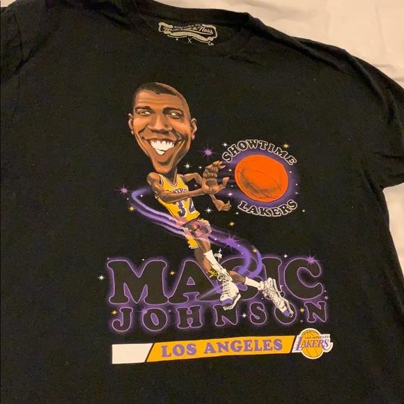 7130b6e9 Mitchell & Ness Shirts | Mitchell And Ness X Nba Lab Magic Johnson ...